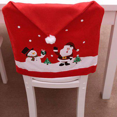 Christmas Non-Woven Chair Sets of Cartoon Old Snow