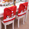 Christmas Non-Woven Chair Sets of Cartoon Old Snow - RED