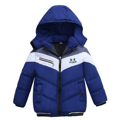 Patchwork Boys Jacket Outwear Warm Hooded Winter Jackets for Boy Coat