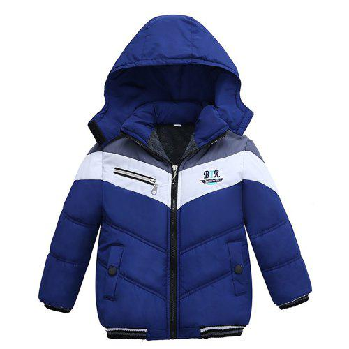 406ccb786 Patchwork Boys Jacket Outwear Warm Hooded Winter Jackets for Boy ...