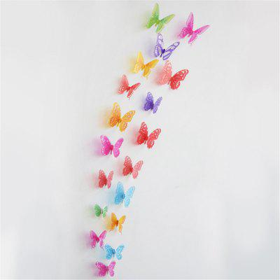 18PCS/LOT 3D Effect Crystal Butterflies Wall Sticker Beautiful Butterfly for Kid