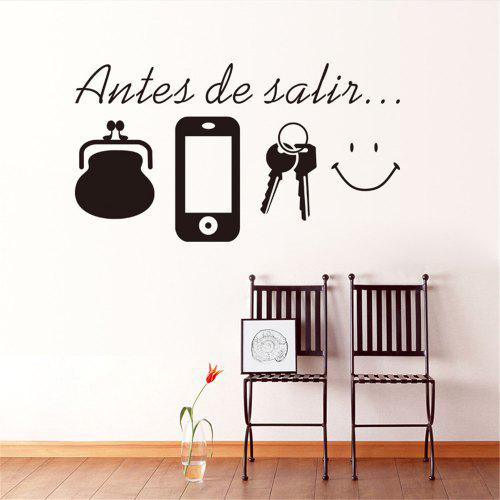 Before Leaving Reminder Quotes Wall Stickers Bedroom Living Room Door Wall  Decor