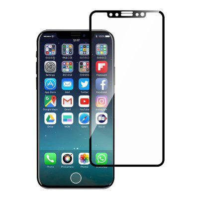 3D 9H Exquisite Carved Gehard Glas Screen Protector Film voor iPhone X / XS