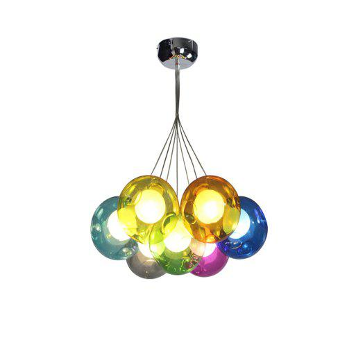 glass bulb chandelier extra large round hz095 simple nordic color glass bubble bulb chandelier 14233