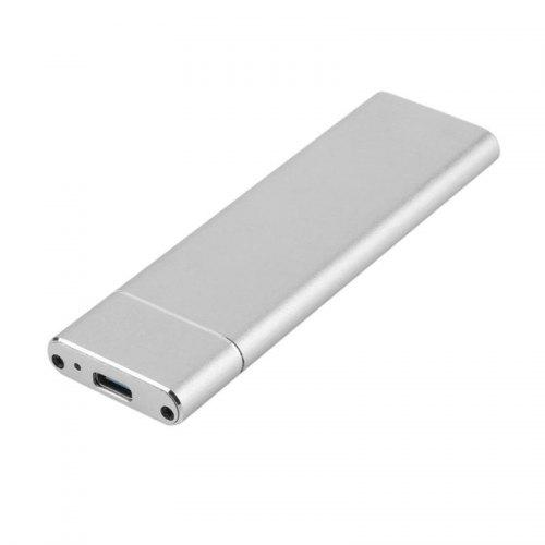 USB3.0 TO M.2 NGFF SSD External Enclosure Storage Case Adapter Aluminium Male#N