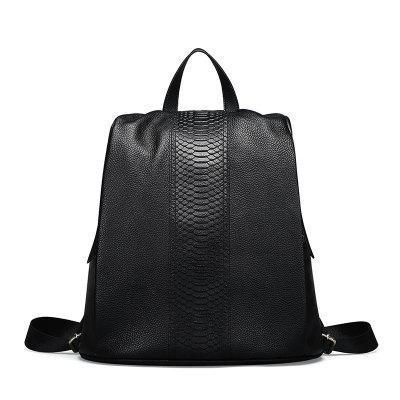 Leather Backpack Leisure Female Bag