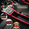 Multifunction Leather Catcher Box Car Seat Cup Coil Pocket Storage Organizer - RED