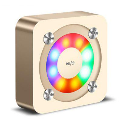 A9 Wireless Bluetooth Speaker With Light Colored Shiny Portable Subwoofer