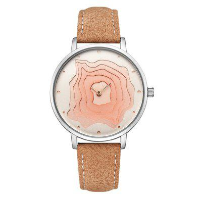 Orologio da donna di moda Cadisen Creative Chic Plain Style All Match Accessory