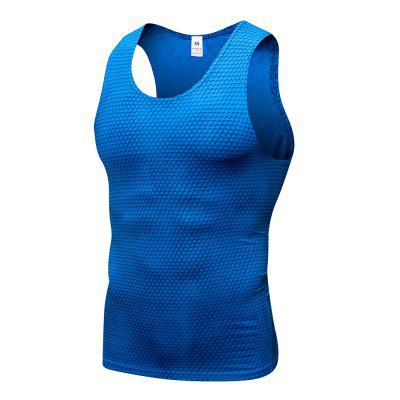 3D Printing Fitness Running Quick-drying Tight Elastic Vest