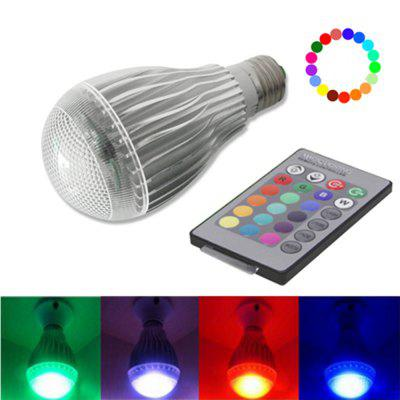 LED Color Changing Light Bulb with Remote Control 10w E27 LED Bulb for Stage/Bar