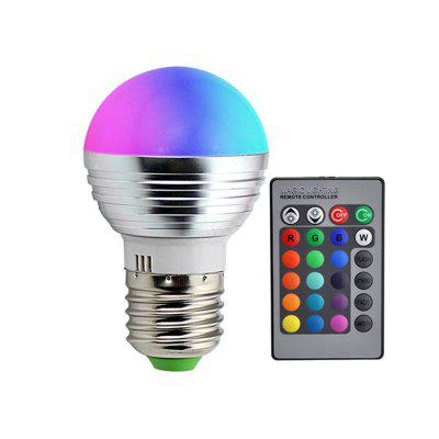 LED RGB Light Bulb with Remote Control 3w E27 LED Bulb for Home Decoration