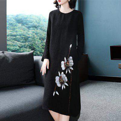 Chinese Ink and Wind Printing Dress