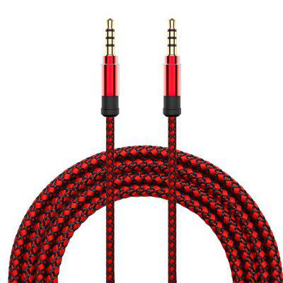 3.5MM Male To Male Polyamide Braid AUX Audio Cable