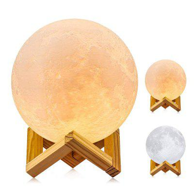 3D Printed Full Moon Lamp Light  Dimmable Cool White Warm Kid Baby Night Light