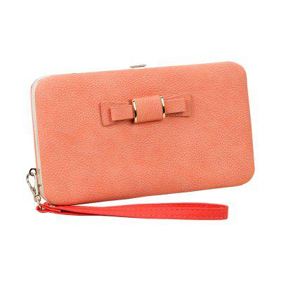 New Women'S Wallet in The Long Mobile Phone Bag Bow Lunch Box Female Bag Tide