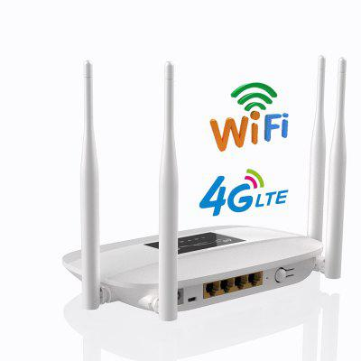 300Mbps Unlocked 4G LTE CPE Wireless Router Support SIM Card 4Pcs Antenna
