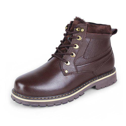 6b77cd8fa23 Men'S High-Top Leather Wear-Resistant Non-Slip Boots Casual Short Boots