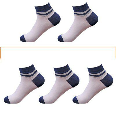Casual Men Can Wear 5 Pairs of Cotton Socks in Four Seasons