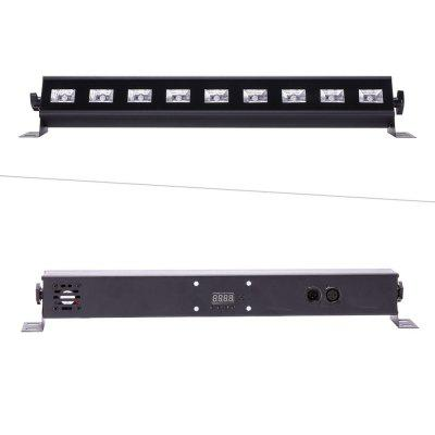 UKing 9x 3W UV LED Black Light Wall Wash Light Stage Lighting with Remote Contr
