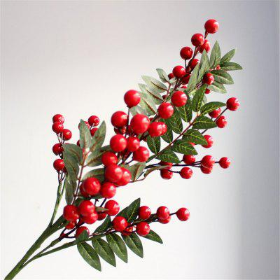 1PCS Christmas Red Little Berries Artificial Flowers Home Decorations