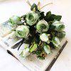 Vintage Style 1Pcs Rose Artificial Flowers DIY Bridal Bouquet Home Wedding Decor - MULTI-A