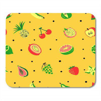 Non Slip Rubber Square  Anti-Water Gaming Yellow Fruit  Cool Mouse Pad