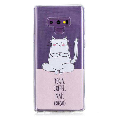 Yoga Cat Painting Phone Case for Samsung Galaxy Note 9