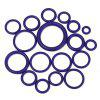 215pcs Rubber O-Ring Assortment Washer Gasket Sealing Ring Kit - EGGPLANT