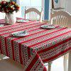 WS Christmas Tree Red Deer Snowflake Printed Tablecloth Tea Table Cloth - VALENTINE RED