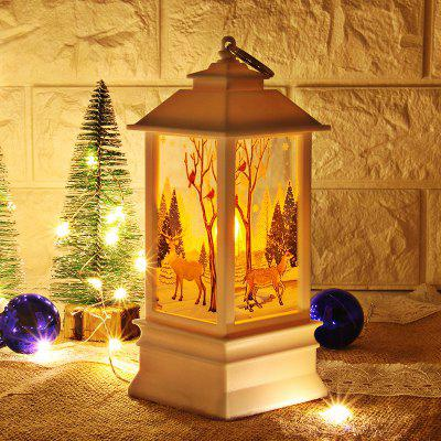 Christmas Table Lamp Creative Printing Lights Candlestick Decoration Desk Lamps