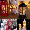 Christmas Table Lamp Creative Printing Lights Candlestick Decoration Desk Lamps - WHITE