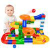 DIY Marble Race Run Maze Ball ABS Funnel Slide Track Building Blocks Toy 52Pcs - MULTI-A