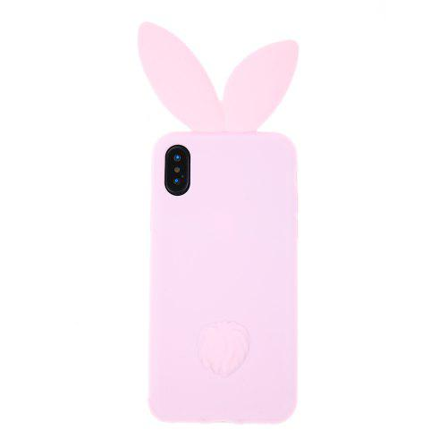 new york bce1e 93674 Pink Silica Gel Rabbit Ear Soft Phone Case Cover TPU Protective for iPhone X