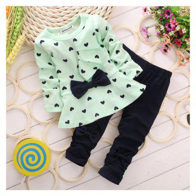 2019 Winter Girls Clothes T-Shirt+Pants Baby Christmas Outfits Girls Sport Suit