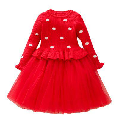 Baby Dresses for Girls Birthday Long Sleeves Princess Dress Baptism Gown