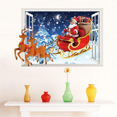 3D Wall Stickers Christmas Removable Adornment Wall Glass Window Decor