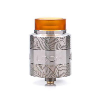 Loop V1.5 Rda Atomizer 24mm With Laser Tattoo W-Shaped Build Deck Vape E Cigs