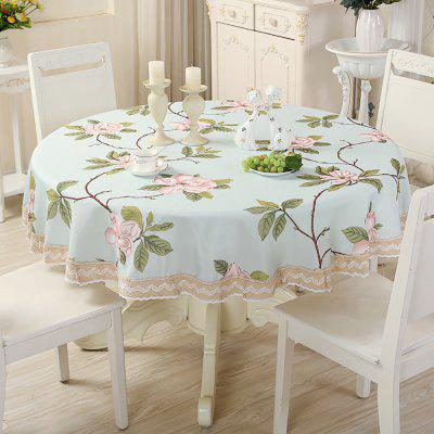 Modern Simple Table Decorations Rural Cloth Art Round Table Cloth