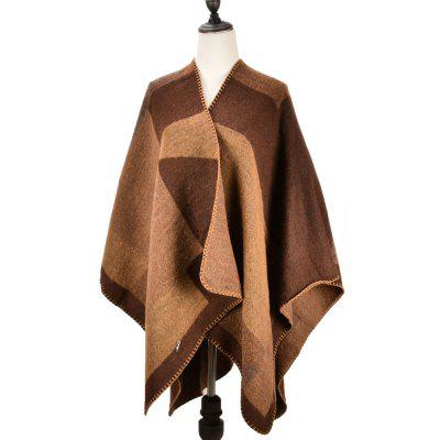 Vintage Classic Beautiful Thick Shawl for Women Winter Fashion Designer Scarf