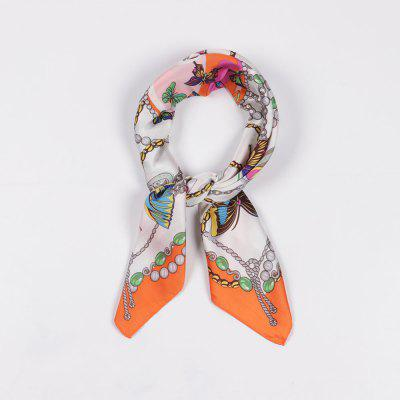 Women's Silk Scarf Stylish Butterfly Pattern OL Scarf Fashion Accessory