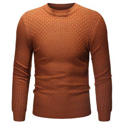 Pull en maille col rond pour homme
