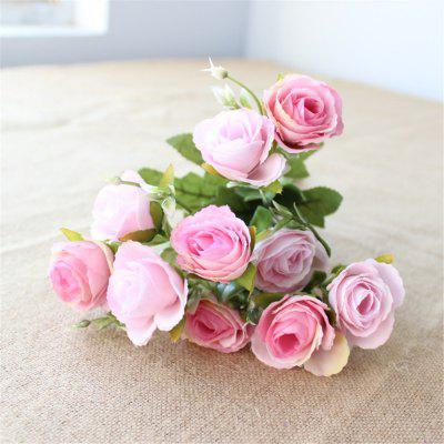 10 Heads Rose Flori artificiale Home Party Decoratiuni de nunta