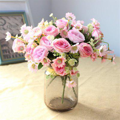 5HEADS Rose Artificial Flowers Home Party Wedding Decorations