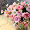 5HEADS Rose Artificial Flowers Home Party Wedding Decorations - PINK