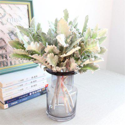 1PCS Simulation Senecio Cineraria Leaf DIY Bridal Bouquet Home Wedding Decor