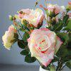 5Pcs Heads Rose Artificial Flowers DIY Bridal Bouquet Home Decorations - MULTI-B