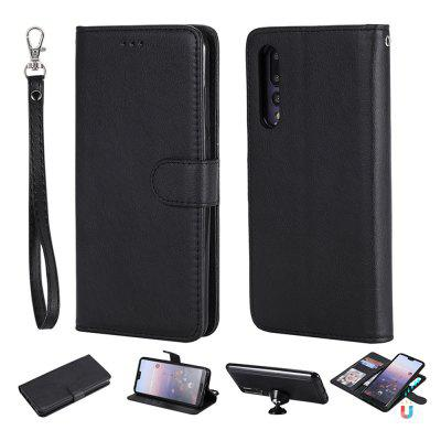2 in 1 Magnetic Detachable Wallet Case For Huawei P20 Pro Magnet Removable Cover