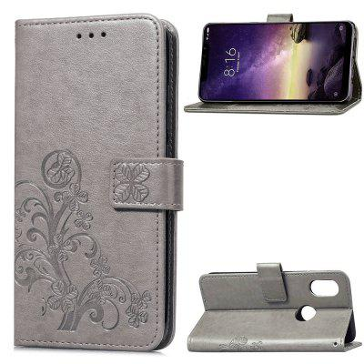 Case For Xiaomi Redmi Note 6 Pro Emboss Flower Flip wallet Cover Phone Bag shell