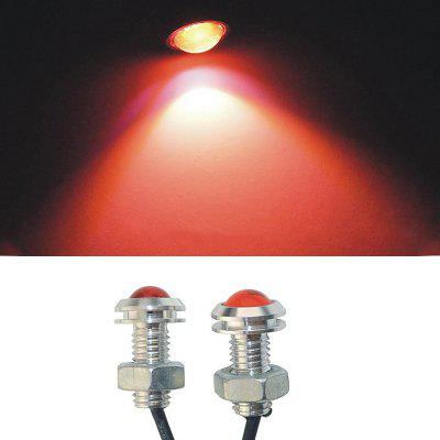 2 STKS 18 MM Auto Eagle Eye Lamp 1.5 W COB Rode LED Dagrijverlichting Zilver
